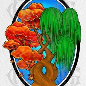 Cool Trippy tree tattoo print for sale